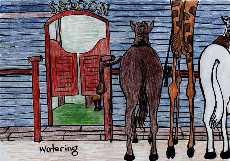 2013-06-26 Giraffe Riders 4 – Watering