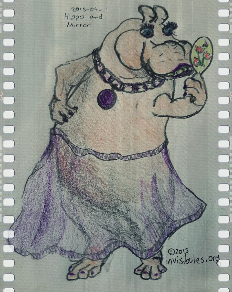 2015-04-11 Hippo and Mirror
