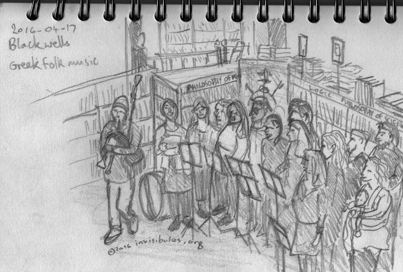 2016-04-17 Greek Choir at Blackwells