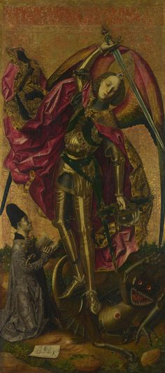 Saint Michael Triumphs over the Devil, by Bartolomé Bermejo, 1468
